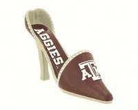 Texas A and M Decorative Shoe Wine Bottle Holder-EG2BHS969