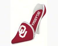Oklahoma Sooners Shoe Wine Bottle Holder-EG2BHS974