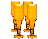 By the Bottle Beer Glass 16 oz Amber Set of 4-EG3BCP002