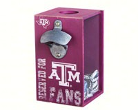 Texas A&M Aggies Bottle Opener Cap Caddy-EG8BC969A