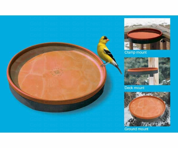 3-In-1 Heated Bird Bath Terra Cotta/Black