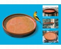 3-In-1 Heated Bird Bath Terra Cotta/Black-FIBD75