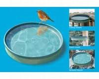 3-In-1 Heated Bird Bath Green/Light Green-FIGBD75