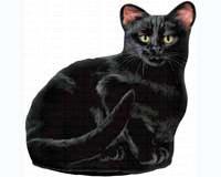 Black Cat Doorstop-FE70