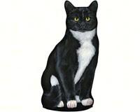 Tuxedo Cat Doorstop-FE81