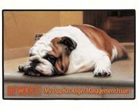 Beware! Anger Management Dog Doormat-FED18