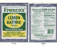 Franco's Lemon Bar Mix (Sweet -N- Sour)-FCM235591