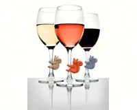 Social Climbers Squirrel Wine Charms (6 per pack)-FRED5186701