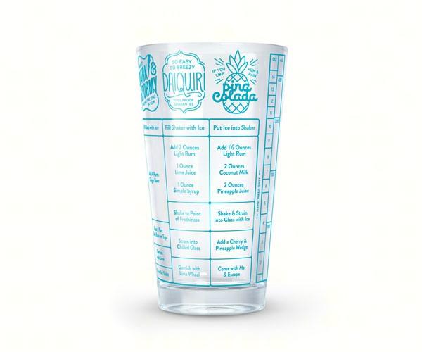Good Measure Rum Recipe Glass