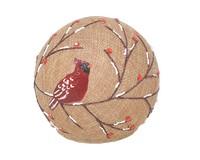 Burlap Cardinal Globe-GE1001