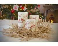 Cardinal Pillar Candles 3 pc-GE1002
