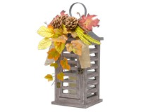 Rustic Pinecones & Leaves Lantern-GE1006
