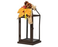 Bronze Pinecones & Leaves Lantern-GE1009