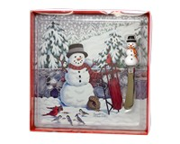 Cobane Stonewall Snowman Glass Cheese Board Set-GE1010