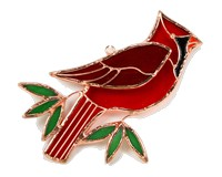 Stained Glass Cardinal Suncatcher-GE141