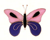 Pink & Purple Butterfly Suncatcher-GE149