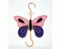 Stained Glass Pink & Purple Butterfly Hook-GE155