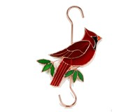 Stained Glass Cardinal Hook-GE157
