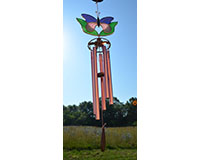 Purple & Pink butterfly with Leaves Wind Chime-GE162