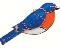Stained Glass Bluebird Suncatcher Suncatcher-GE172