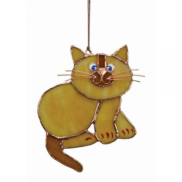 Tan Cat Suncatcher GE186'