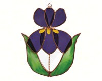 Stained Glass Iris Suncatcher-GE190