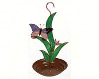 Purple Butterfly with Leaves Bird Feeder GE203