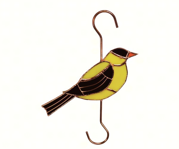 Stained Glass Goldfinch Garden Hook