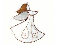 Stained Glass Angel Suncatcher-GE223