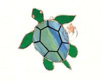 Stained Glass Sea Turtle Suncatcher GE229
