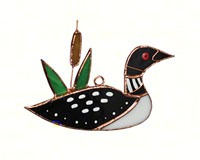 Stained Glass Loon Suncatcher GE234