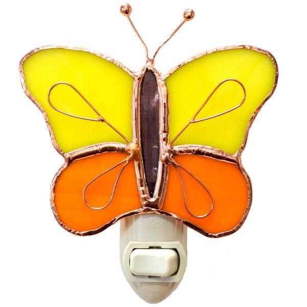 Yellow & Orange Butterfly Nightlight GE254'