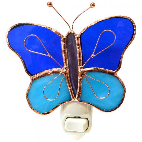 Dark & Light Blue Butterfly Nightlight GE255'