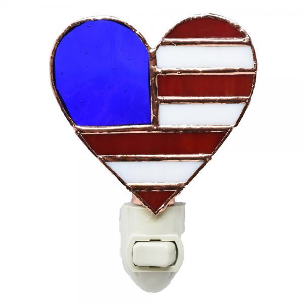 Patriotic Heart Nightlight GE258'