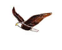 Stained Glass Bald Eagle Suncatcher-GE276