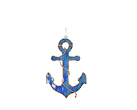 Stained Glass Serenity Blue Anchor Suncatcher GE288