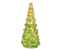 LED Small Green & White Glass Tree-GE3004