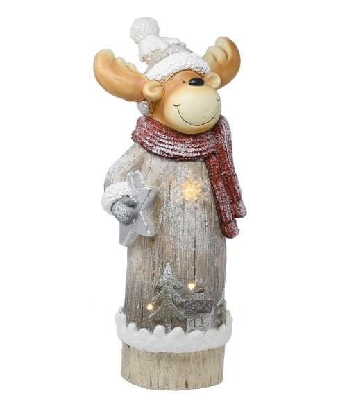 LED Holiday Moose Door Greeter