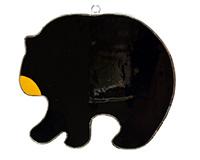 Stained Glass Black Bear Suncatcher GE301