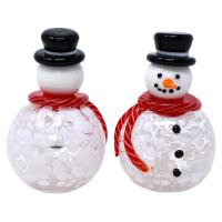 Blown Glass Snowmen Salt & Pepper Set-GE3023