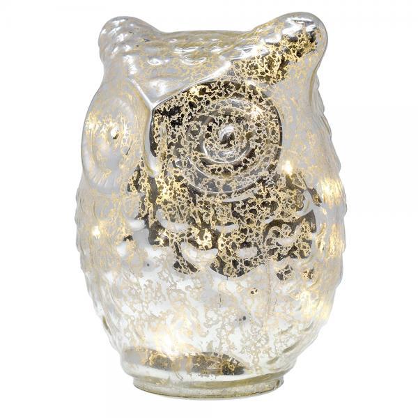 Large Glass LED Owl