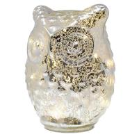 Large Glass LED Owl-GE3024