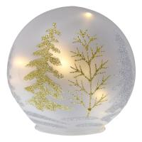 6 Inch Silver & Gold Tree Design Glass LED GLobe-GE3027