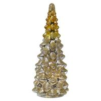 Gold & Silver Mercury Glass LED Tree Medium-GE3029