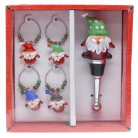 Gnome Set with Wine Charms and Stopper-GE3037
