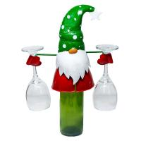 Gnome Wine Bottle & Glass Holder-GE3039