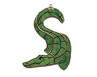Stained Glass Alligator Suncatcher GE304