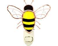 Stained Glass Bee Nightlight-GE308