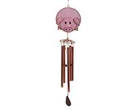 Pink Pig Wind Chime-GE315