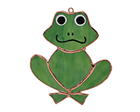 Stained Glass Frog Suncatcher GE319